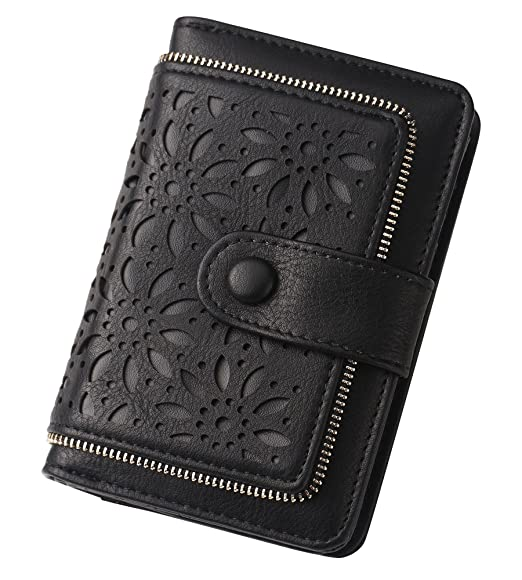 b218d0f71ee8 Women RFID Blocking Vintage Organizer Wallet for Ladies Small Purse with  Multi Card Holder