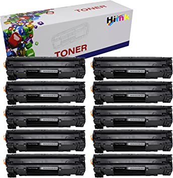 10 pk CE285A Toner Cartridge for Pro P1102w M1212nf Multifunction Printer