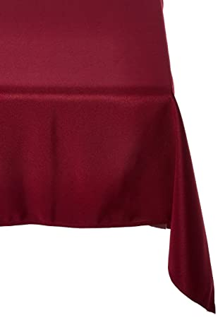 LinenTablecloth 70 X 120 Inch Rectangular Polyester Tablecloth Burgundy