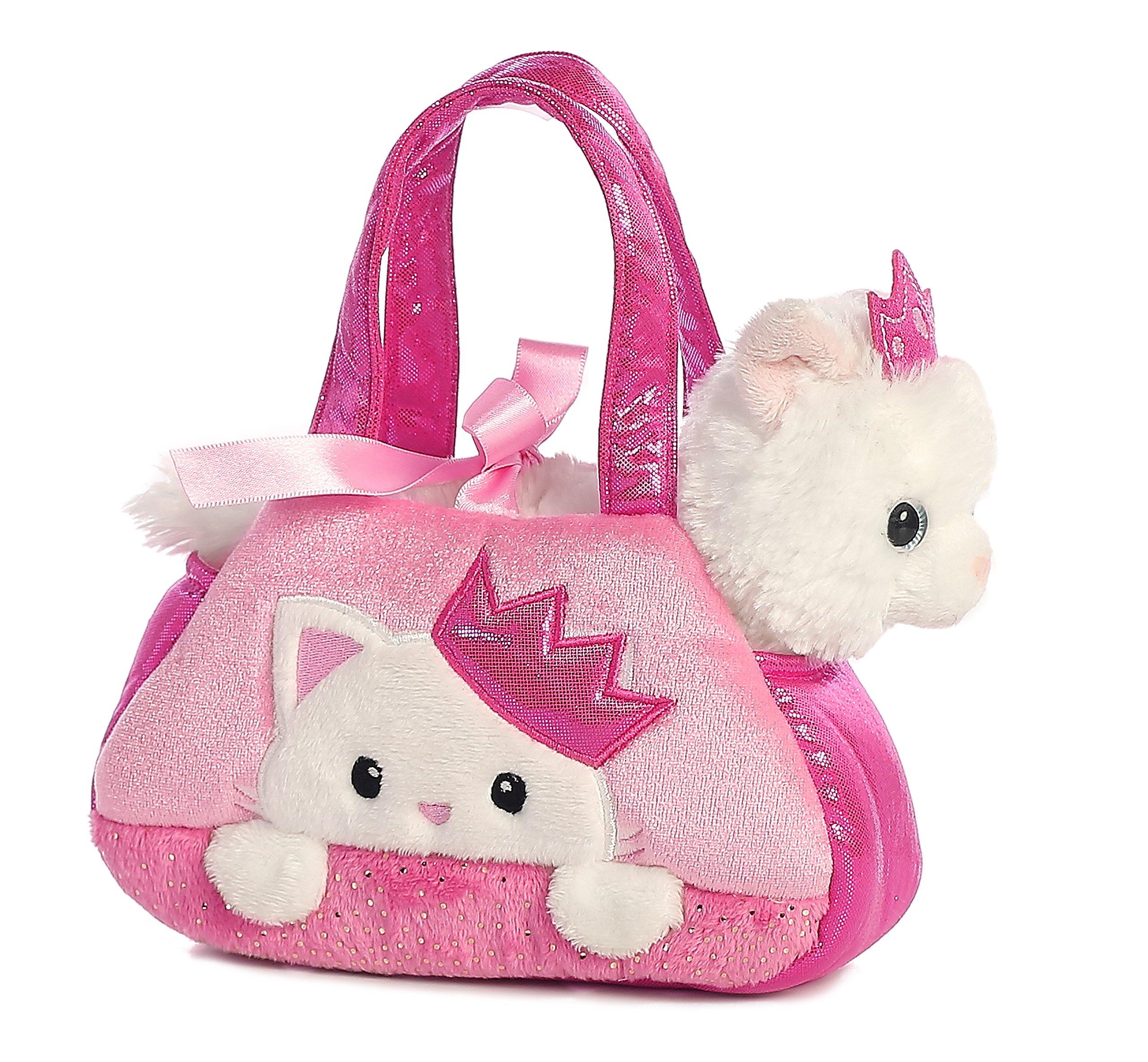 Aurora World Fancy Pals Pet Carrier, Peek-A-Boo Princess Kitty