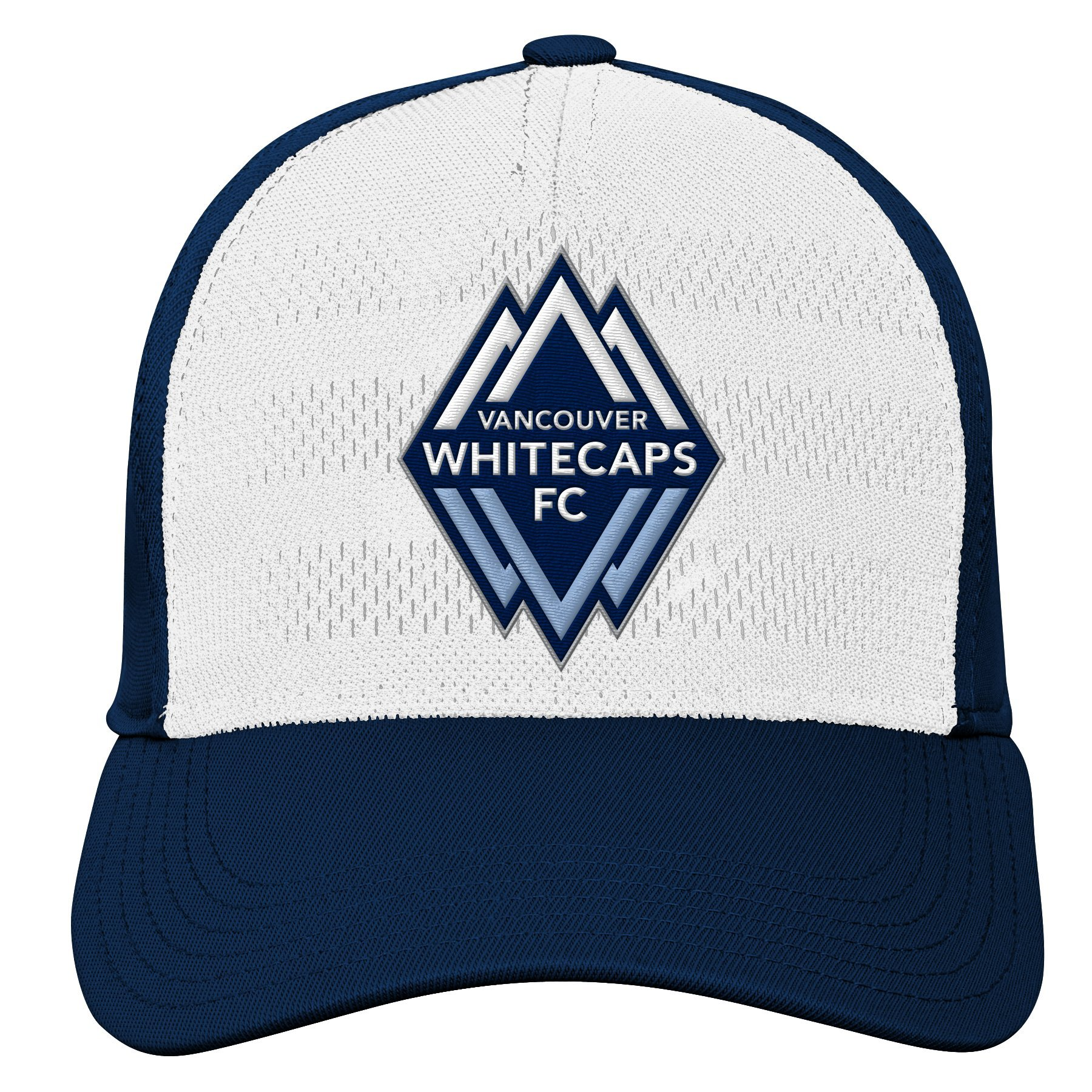 MLS Vancouver Whitecaps Youth Boys Authentic Structured Flex, 1 Size, Dark Navy