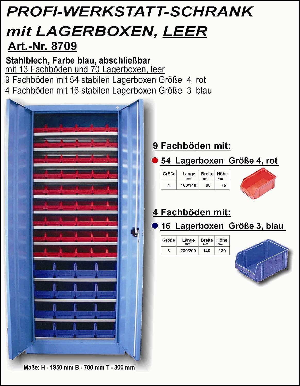Dresselhaus 8709 Profi-Werstatt-Schrank leer mit Lagerboxen ...