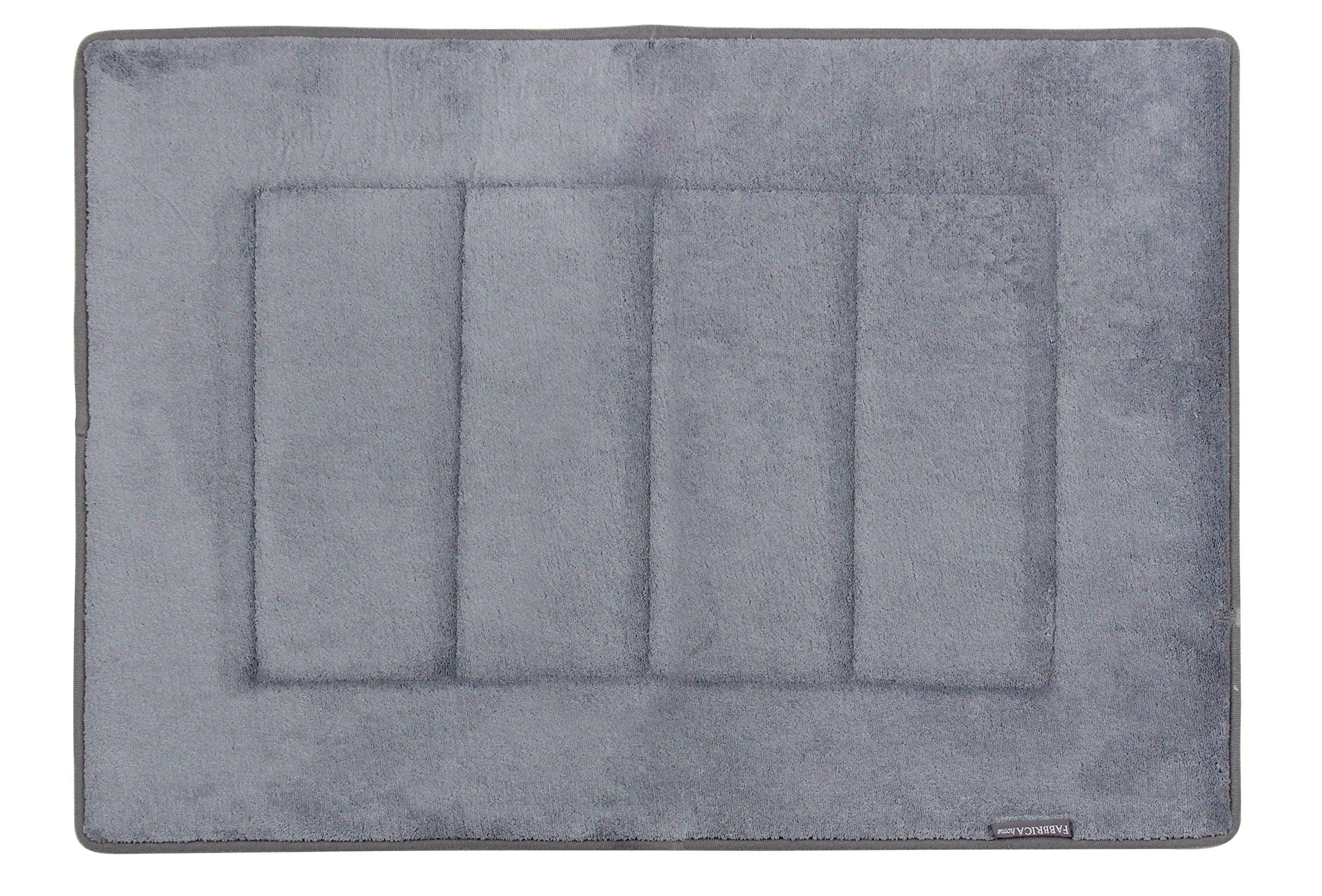 Fabbrica Home Ultra-Soft HD Memory Foam Bath Mat (17 in. x 24 in.) (Slate Gray)