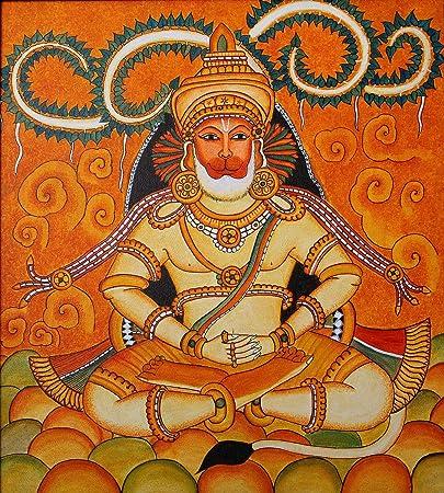 Lord Hanuman Mural Paintings We Used Home Office Print
