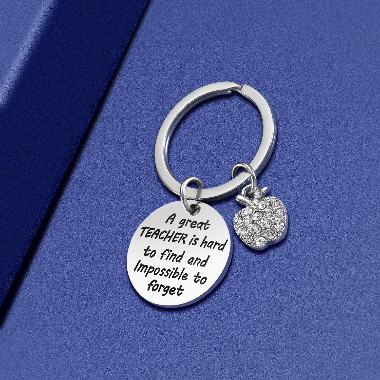 Teach Love Inspire Heart Teacher Keychain Birthday Gift for Teacher Valentines Gifts Jewelry Gift for Teachers Teacher Appreciation Gift for Women