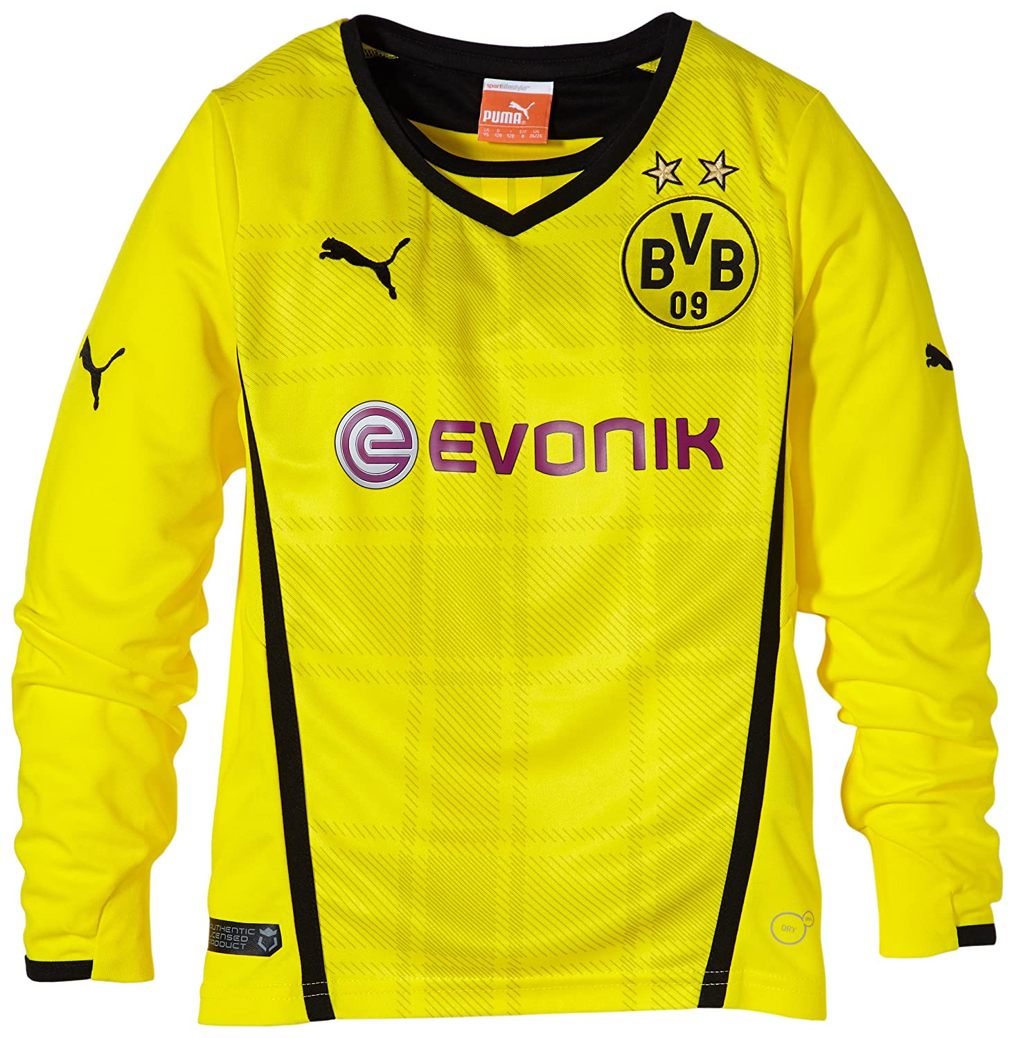 BVB Borussia Dortmund Training Jersey Shirt Yellow Long Sleeve Kids PUMA