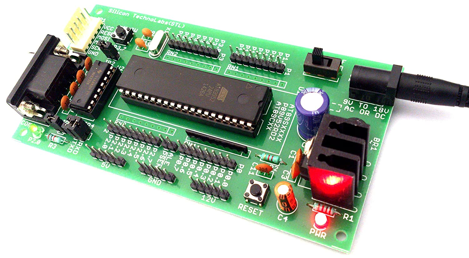 Buy Silicon Technolabs Development Board Green Online Interfacing Gps To 8051 Microcontroller Circuit Diagram At Low Prices In India Reviews Ratings