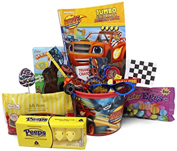 Amazon blaze monster truck easter basket great for little blaze monster truck easter basket great for little boys and girls pre filled with negle Choice Image