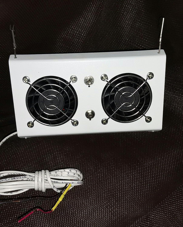 Deluxe RV Refrigerator Evaporator Fan w/LED & Grill