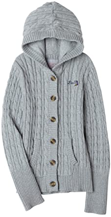 Amazon.com: Levi's Big Girls' Cable Knit Sweater, Grey Heather ...