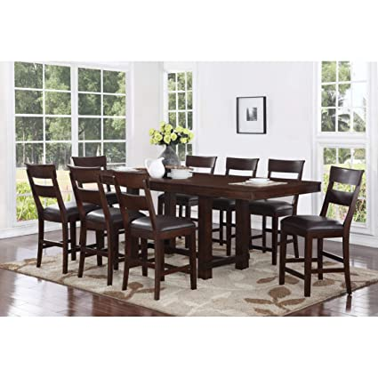 Stupendous Amazon Com Craft Main Alden 9Pc Counter Height Dining Pdpeps Interior Chair Design Pdpepsorg