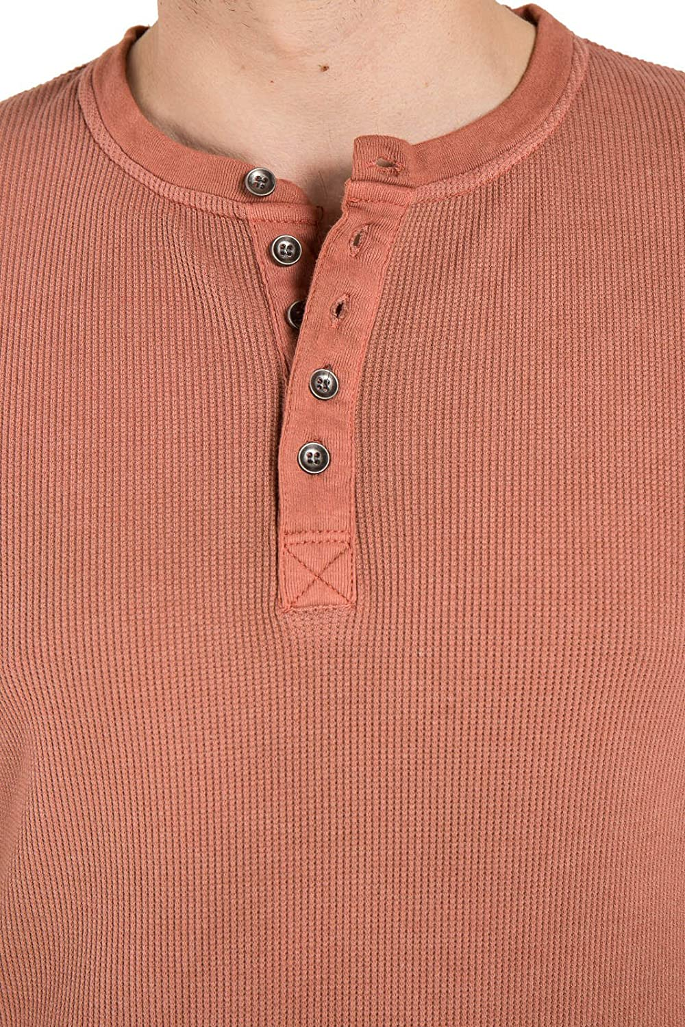 Stitchs Jeans Mens Henley Slim Long Sleeve Thermal Knit