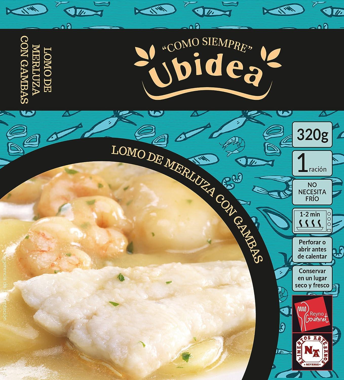Lomo de Merluza con Gambas - Ubidea - 3 platos: Amazon.es: Alimentación y bebidas