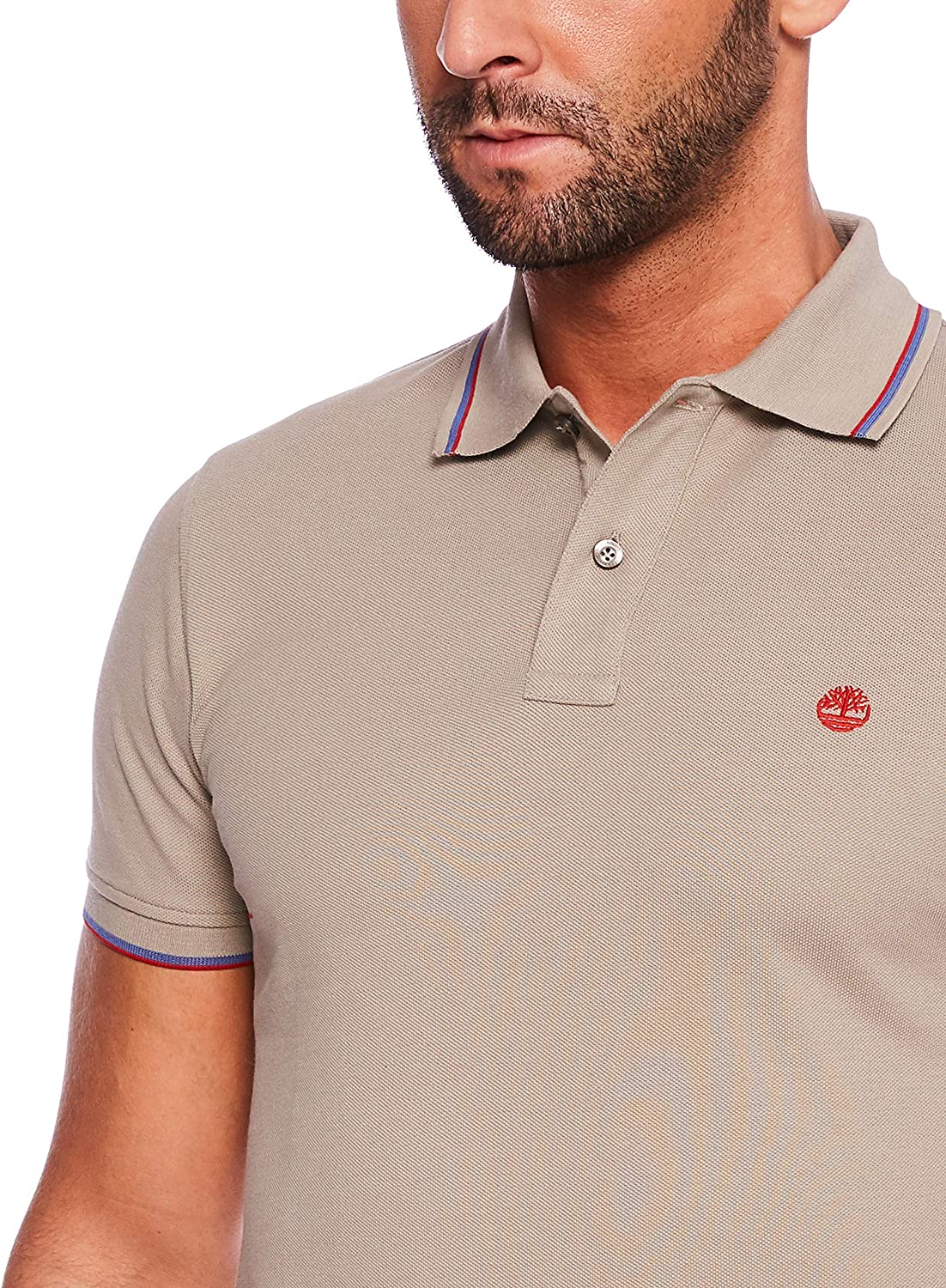 Timberland SS Millers River Pique Tipped Polo Slim Hombre: Amazon ...
