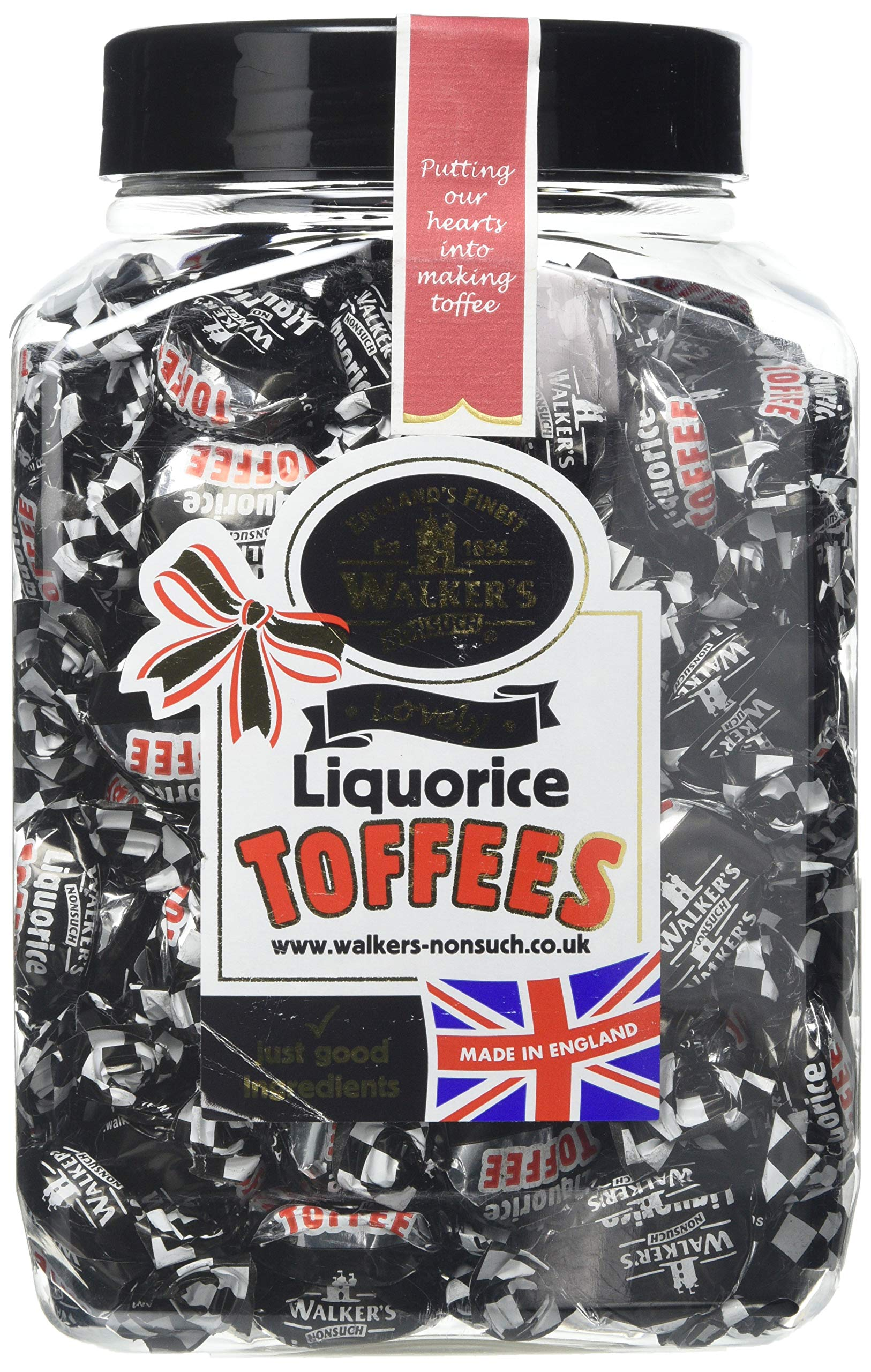 Walkers Liquorice Toffee 1.25kg Jar by Walkers Nonsuch Toffee Ltd