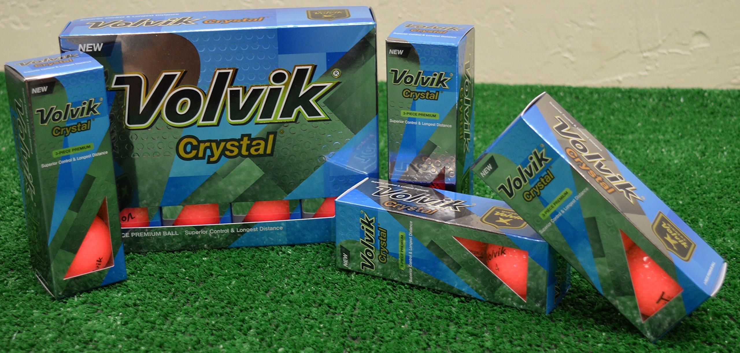 3 Dozen 2016 Volvik Crystal Pink Golf Balls - New in Box