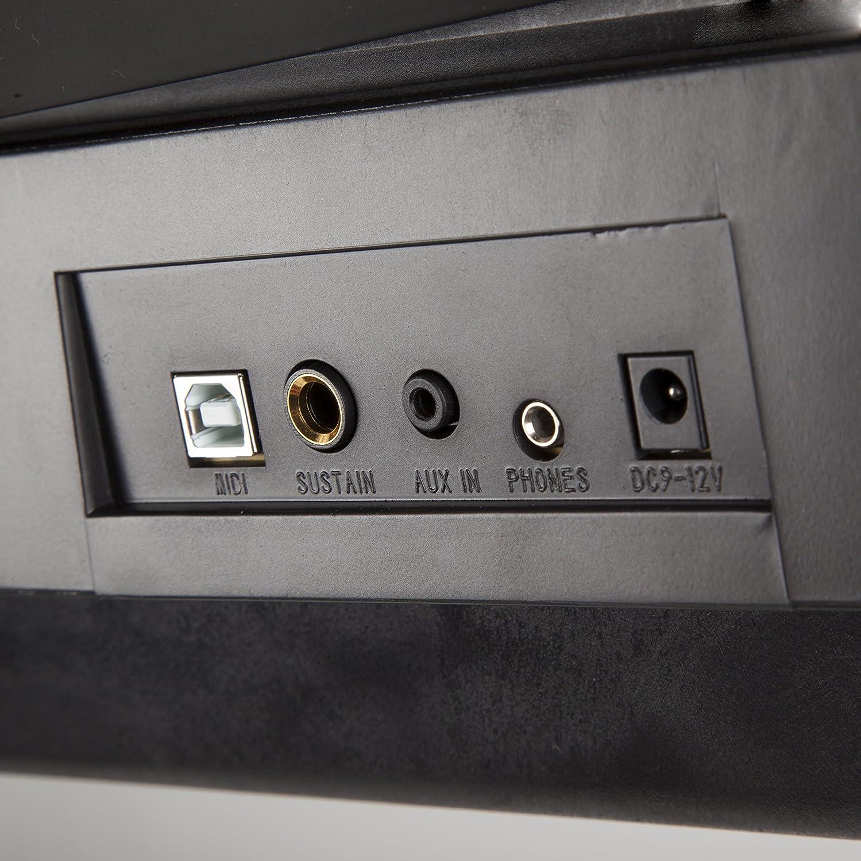 RockJam RJ761-SK RJ761 SK Clavier Électronique dEnseignement Interactif Support + Tabouret + Pédale de Sustain + Casque Clavier numérique compact