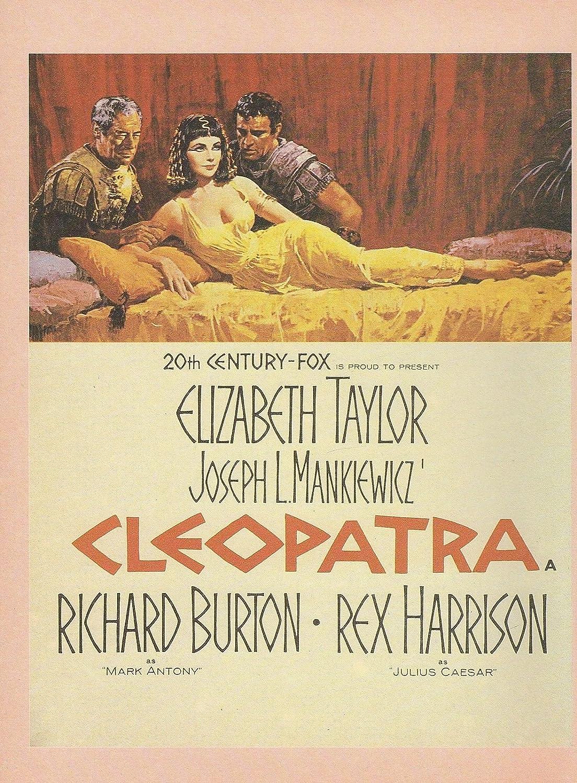 "1963/"" LIZ TAYLOR RICHARD BURTON MINI POSTER Lithograph 1982 VINTAGE /""CLEOPATRA"