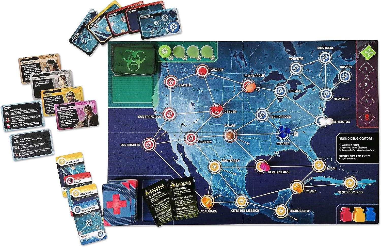 Pandemic Zona Roja – Norteamérica – Juego de Mesa edición en Italiano (8398 Asmodee Italia): Amazon.es: Juguetes y juegos