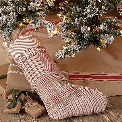 piper classics mill creek red patchwork christmas stocking 12 x 20 country - Country Christmas Stockings