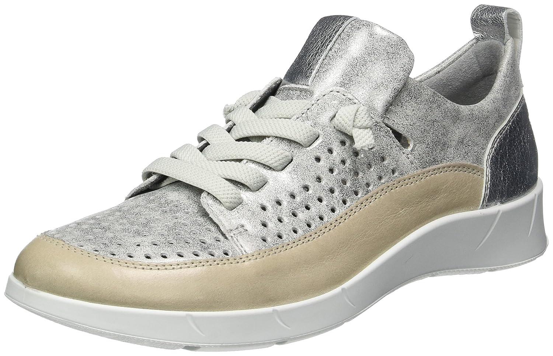 ARA Damen Kopenhagen Sneaker Grau (Fossil,zinn/Silber)