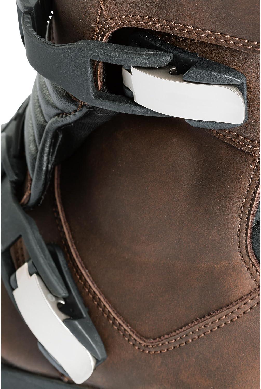 FLM Chaussures de Moto Hommes et Femmes Bottes de Moto Tour Bottes Court 1.0 Toute lann/ée Tourer Microfibre//Synth/étique Hommes