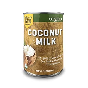 Nature's Greatest Foods, Organic Coconut Milk, No Guar Gum, Unsweetened, Easy Open Lid, 13.5 Ounce (Pack of 12)