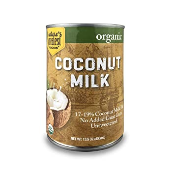 Nature Greatest Food Organic Unsweetened Coconut Milk
