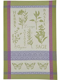 Great Kay Dee Designs Cotton Jacquard Tea Towel, 18 By 28 Inch, Garden Rules