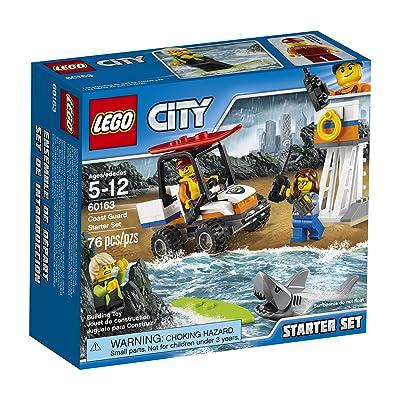 LEGO City Coast Guard Coast Guard Starter Set 60163 Building Kit (76 Piece): Toys & Games