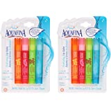 Aquafina Hydrating Lip Balm (2) 4packs Total of 8 Sticks Lip Ointment Healing Therapy for Dry Lips