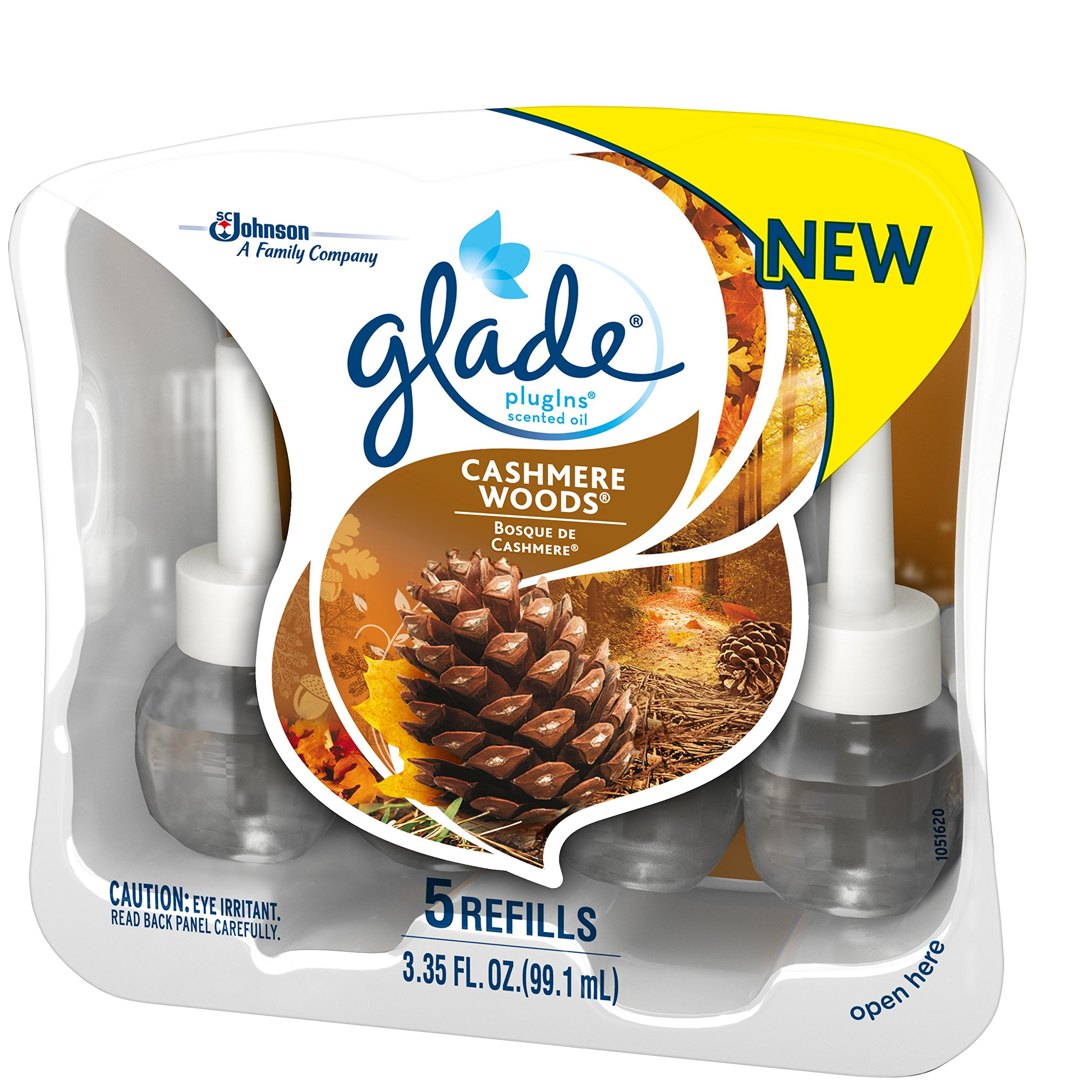 Glade Plugins Scented Oil Air Freshener Refill, Cashmere Woods, 5 Count by Glade (Image #2)