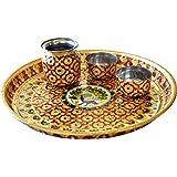 India Get Shopping Handmade MeenaKari Work Pooja Thali for Diwali