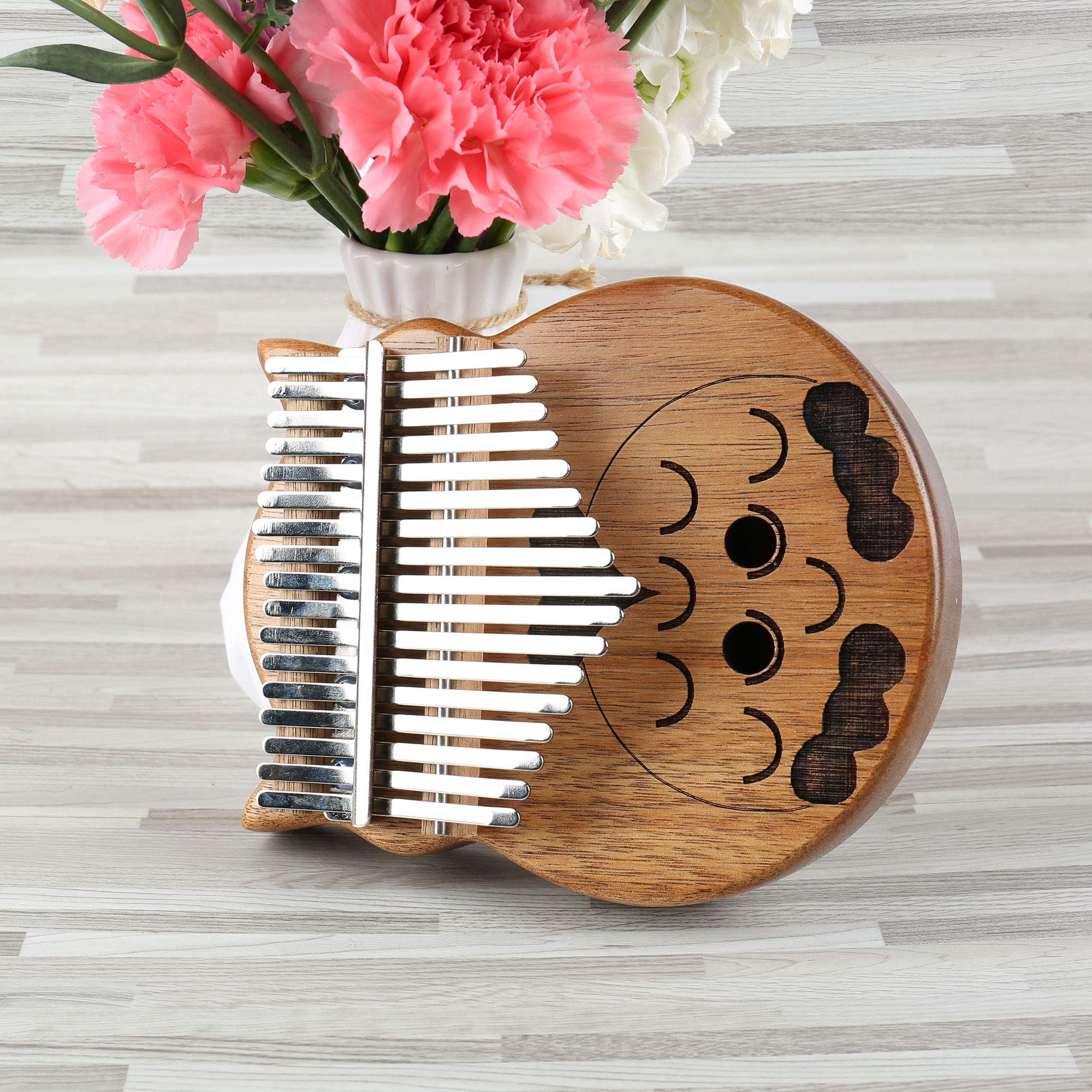 longdafeiUS Kalimba, Owl ThumbPianowith 17 Key Finger Piano Mbira Solid Walnut Wood Thumb Piano Finger Percussion Musical Gift by longdafeiUS (Image #5)