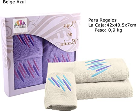 ForenTex Pack 3 Toallas Chique Regalos Multiusos Basic absorbentes ...