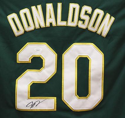 buy online 53170 d73b5 Josh Donaldson Oakland Athletics Signed Autographed Green ...