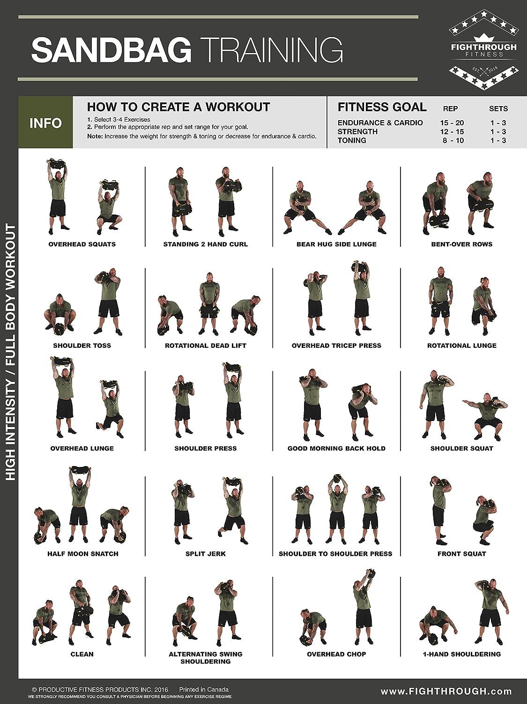 Ejercicios - LAMINADO de alta intensidad (entrenamiento Poster/tabla - M - fuerza y entrenamiento cardiovascular - Core - Pecho - Patas - , hombros y ...