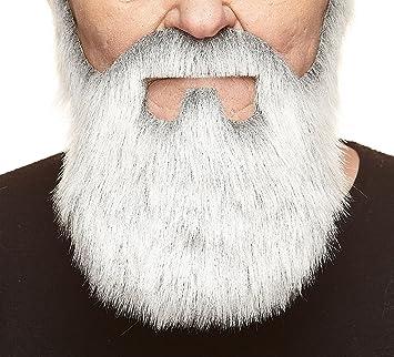 Nouveaut/é Nobleman Fausse Barbe et Fausse Moustache Mustaches Auto-Adh/ésives Grise avec Blanche Couleur