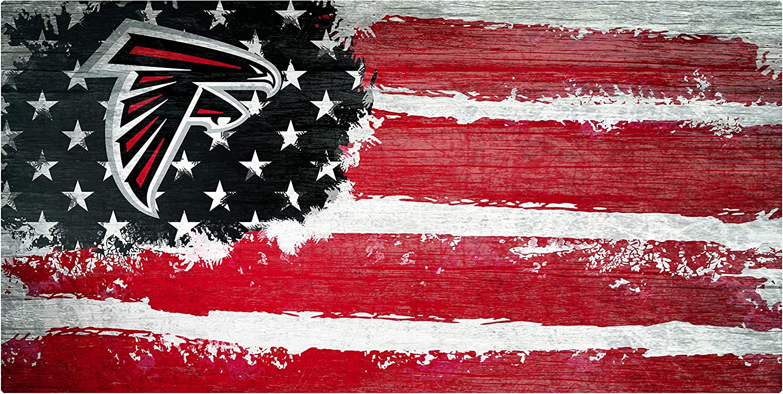 NFL Atlanta Falcons Unisex Atlanta Falcons Flag sign, Team Color, 6 x 12