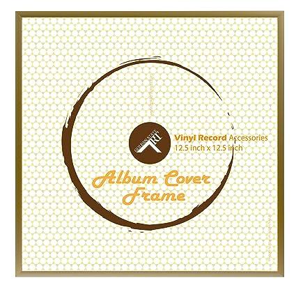 Amazon.com - Golden State Art, 12.5x12.5 Gold Aluminum Vinyl Record ...