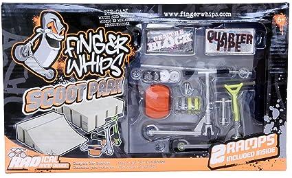 Finger Whips Scoot Park - Parque para patinete con accesorios