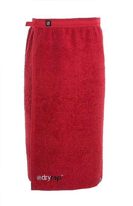 Dryrobe - Dryrap - Toalla de deporte para cambiarse - Hombre - Talla única - Rojo