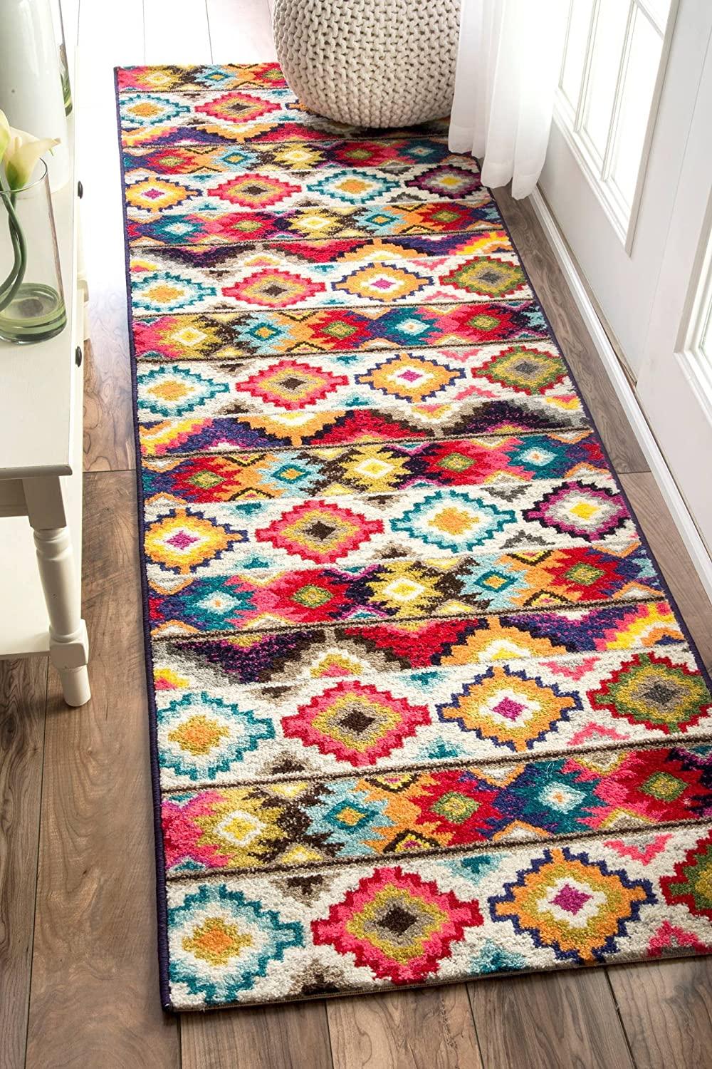 "nuLOOM Ritzy Contemporary Retro Runner Rug, 2' 5"" x 8', Multi"