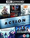 The Action Collection (4K UHD+BD+UV) (The Huntsman Winters War / Warcraft The Beginning / Lucy / Everest / Battleship ) [Blu-ray] [2017] IMPORT