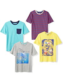 Amazon Brand - Spotted Zebra Boys  4-Pack Short-Sleeve T-Shirts 02a84a29b889