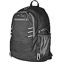 Olympia Woodsman 19 Inch USB Laptop Backpack (Black/Gray)