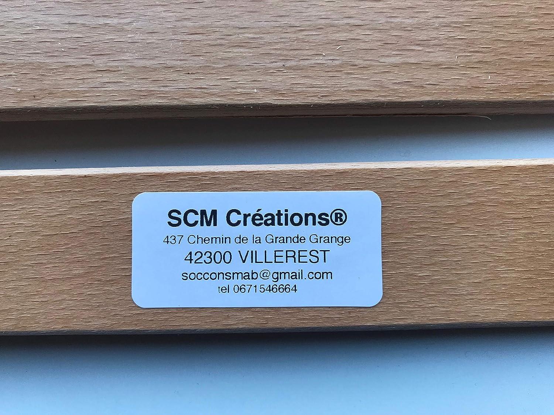 Lot de 2 79cm SCM Cr/éations Latte 790//38//8