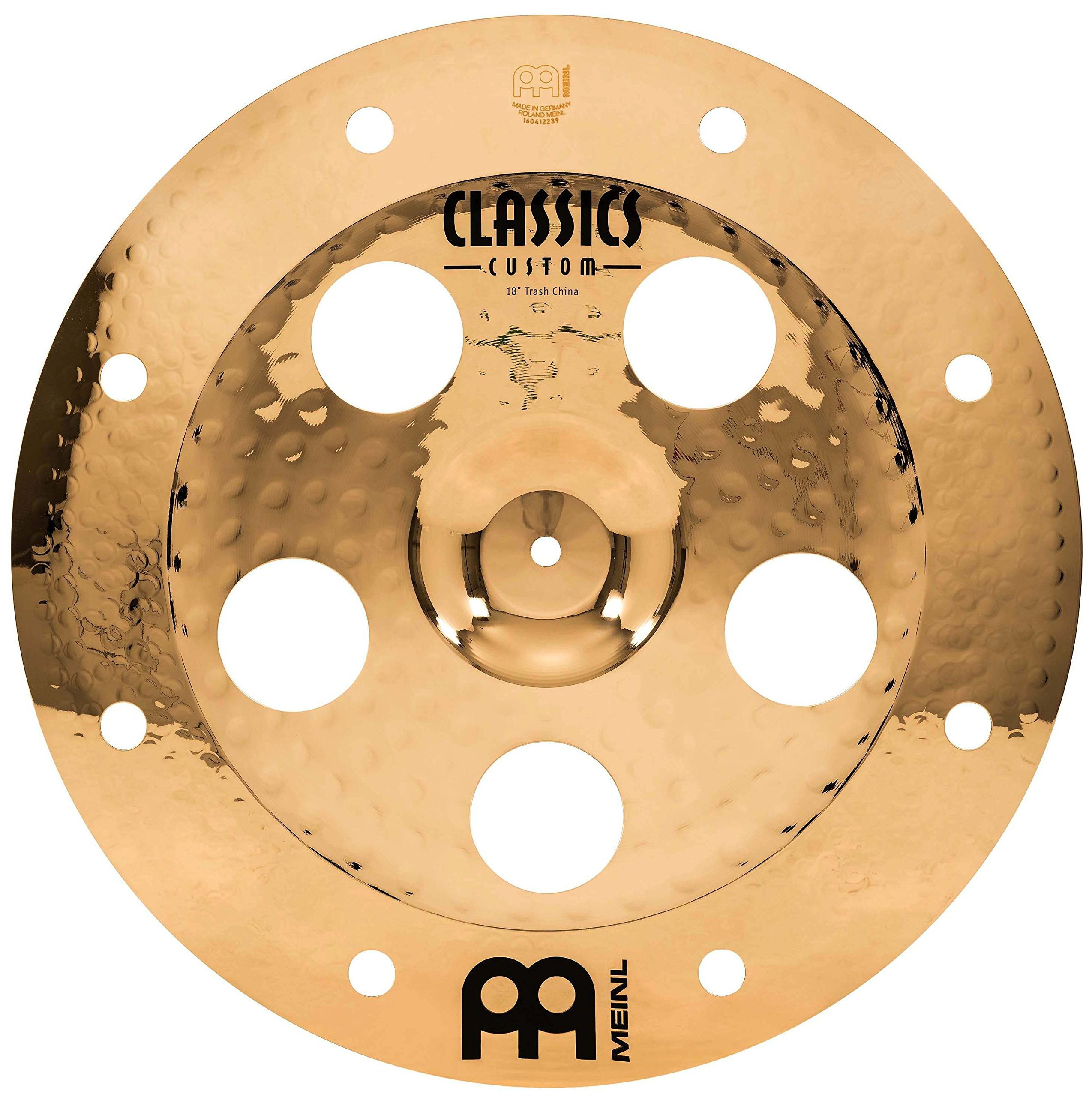 Meinl 18'' Trash China Cymbal with Holes - Classics Custom Brilliant - Made In Germany, 2-YEAR WARRANTY (CC18TRCH-B) by Meinl Cymbals