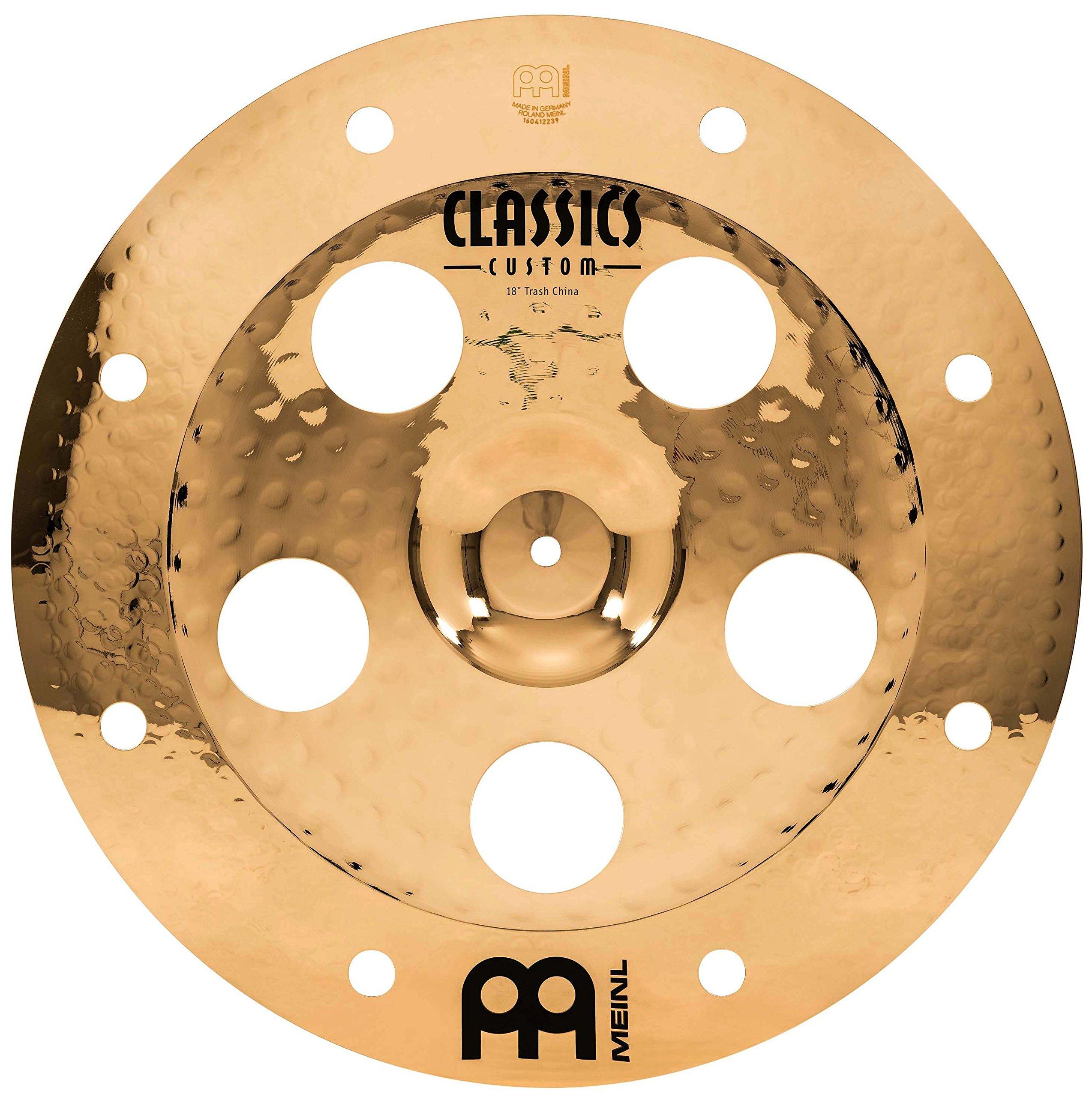 Meinl 18'' Trash China Cymbal with Holes - Classics Custom Brilliant - Made In Germany, 2-YEAR WARRANTY (CC18TRCH-B)