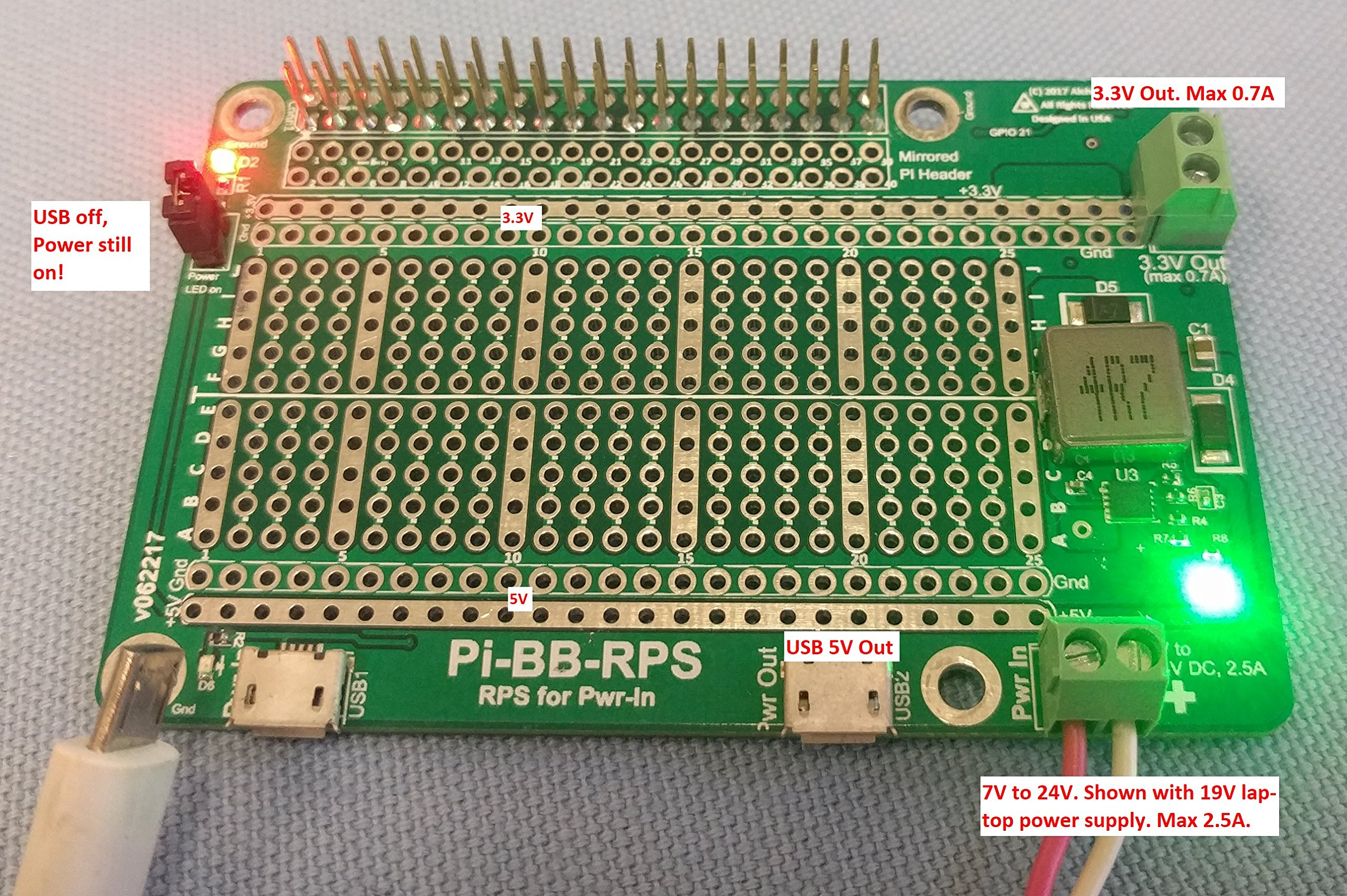 Alchemy Power Inc. Pi-BB-RPS Powered Breadboard with Redundant Power Supply (RPS) and more... by Alchemy Power Inc. TM (Image #8)